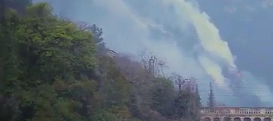 გაგრაში  ხანძრის ლიკვიდაცია შეძლეს, თუმცა დღეს დილით კერები განახლდა (ვიდეო)