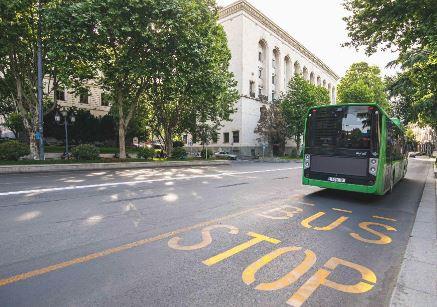 რუსთაველის გამზირზე საავტობუსე ზოლი დაიხაზ